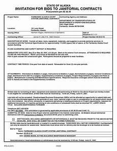 Commercial Cleaning Contract Sample Sample Janitorial Contract Free Printable Documents