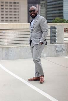 Light Grey Pants Brown Shoes Light Gray Suit Striped Dress Shirt Brown Dress Shoes