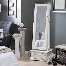white cheap standing wood cheval mirror jewelry armoire