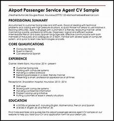 Airline Customer Service Agent Resume Cool Customer Services Cv Template Pictures