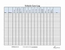 Vehicle Service Log Car Maintenance Log Template Http Www Lonewolf Software