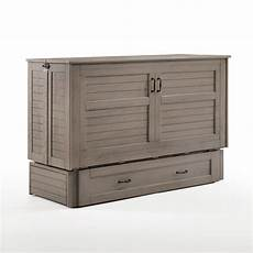 poppy brushed driftwood murphy cabinet bed by