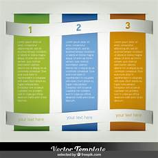 3 Column Brochure Three Columns Infographic Free Vector