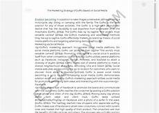 Essay About Social Media The Marketing Strategy Of Gopro Based On Social Media