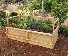 3 x 6 raised garden bed with hinged fencing eartheasy