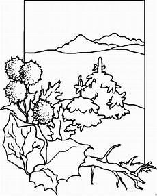 Malvorlagen Landschaften Gratis Bilder Tannenbaeume Mit Bergen Ausmalbild Malvorlage Landschaften