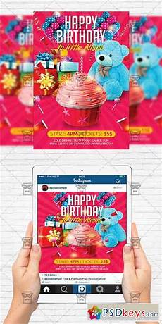 Party Flyer Size Kids Birthday Party Flyer Template Instagram Size