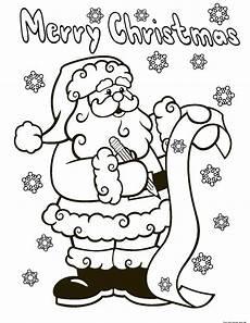 santa claus wish list printable coloring