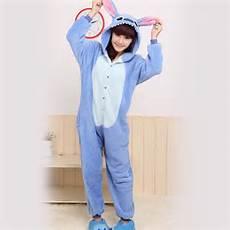 blue stitch kigurumi pajamas animal costume
