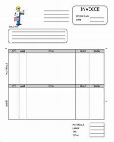 Construction Invoice Template Word Sample Contractor Invoice Templates 14 Free Documents