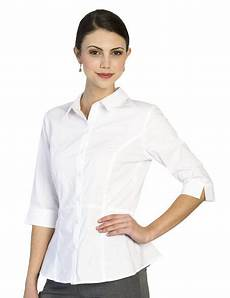 3 4 sleeve blouses restaurant 3 4 sleeve peplum blouse sharper uniforms