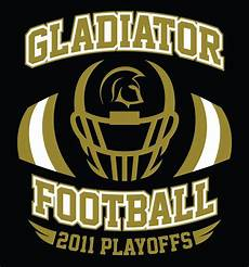 Football T Shirt Designs The Front Design Of The Gladiator Football Playoff T