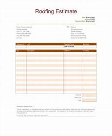 Roofing Proposal Forms 12 Roofing Estimate Templates Pdf Doc Free Amp Premium