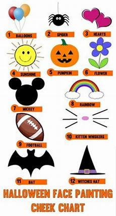 Face Painting Chart 1000 Images About Trick Or Treat On Pinterest Greek