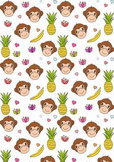 Printable Paper Free Digital Monkey Scrapbooking Paper Ausdruckbares
