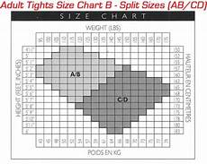 Tights Size Chart Dance Tight Size Chart 3 Dance 4 Less