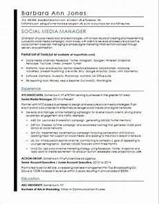 Digital Media Resume Social Media Resume Sample Monster Com