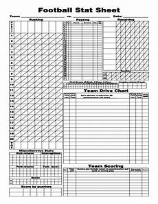 Charting Football Plays Templates Football Stat Sheet Free Download