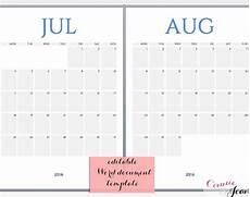 Free Calendar Templates For Word 16 Printable Microsoft Word Calendar Templates Free
