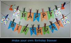 Create A Birthday Banner Make Your Own Birthday Pennant Banner A Sparkle Of Genius