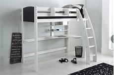 high sleeper cabin bed with desk and shelves scallywag
