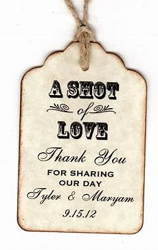 Wedding Favor Tags 50 Personalized Shot Of Love Wedding Favor Tags By
