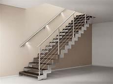 ringhiera scala interna acciaio scala in acciaio rettilinea con gradini in legno bologna