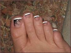 French Tip Toe Designs 60 Stylish Black And White Nail Art Designs For Toe Nails