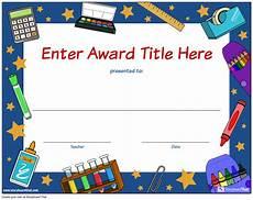 Student Certificates Free Create Student Awards Printable Award Certificates