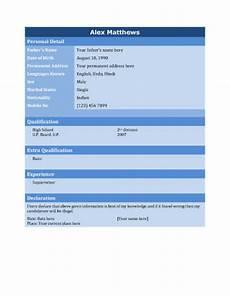 Professional Biodata Format Free Download Biodata What It Is 7 Biodata Resume Templates Hloom