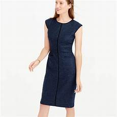 cap sleeve dresses for lyst j crew cap sleeve dress in piped donegal wool