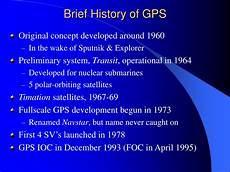 History Of Gps Ppt The Global Positioning System Gps Powerpoint
