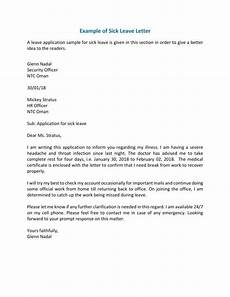 Sick Leave Note 7 Sick Leave Letter Templates Pdf Word Free