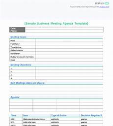 Business Meeting Template Creating A Powerful Meeting Agenda 4 Best Templates