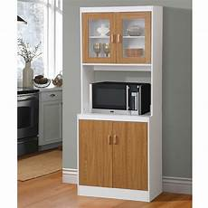new brown kitchen microwave stand utility cabinet