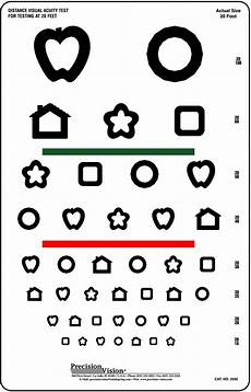 Visual Acuity Picture Chart 8 Line Patti Pics Color Test Visual Acuity Chart