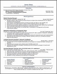 Mba Resume Example Sample Mba Marketing Resume Marketing Mba Online Degree