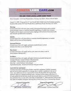 Lawn Care Contracts Samples Lawn Care Contract Free Printable Documents