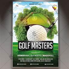 Golf Outing Flyers Golf Masters Premium Flyer Psd Template Psdmarket