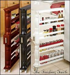 rolling spice rack slim can holder kitchen shelf slim