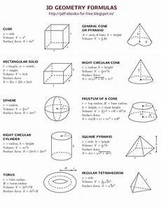 Geometric Formula 2d And 3d Geometry Formulas Ebook Geometry Formulas