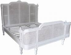 provence rattan bed in antique white
