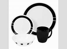 Corelle Livingware Urban Black 16 Piece Dinnerware Set
