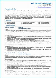 Free Chef Cv Template Chef Cv Example Cv Writing Guide Land The Best Chef Jobs
