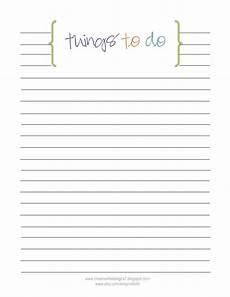 Things To Do Template Printable Creative Life Designs Free Printables