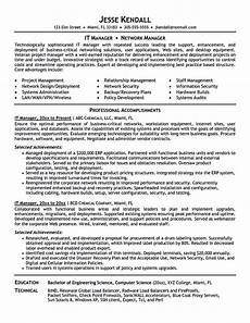 Project Manager Resume Objectives It Manager Resume Consist Of Objective Or Summary Skills