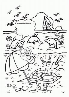 Kostenlose Malvorlagen Sommer Free Preschool Summer Coloring Pages Coloring Home