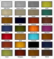 Plant Color Chart Neocrete Color Charts Neocrete