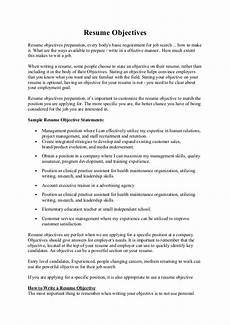 How To Make Objectives In Resumes Resume Objectives