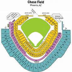 Chase Field Suite Seating Chart Breakdown Of The Chase Field Seating Chart Arizona